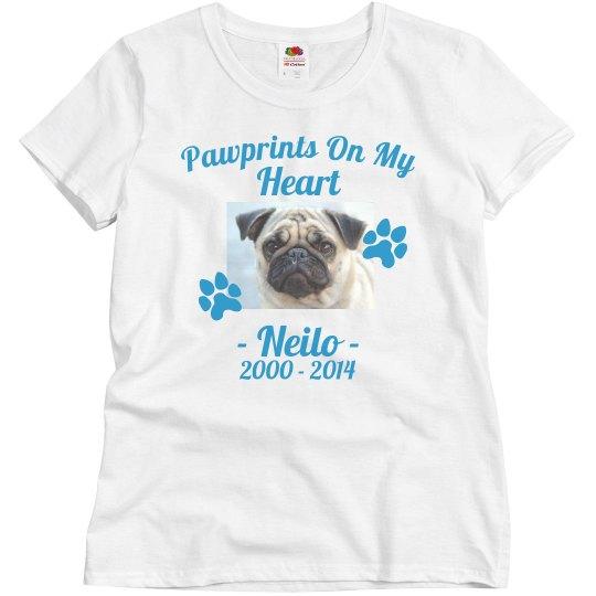 Pet Memorial Custom Text Top