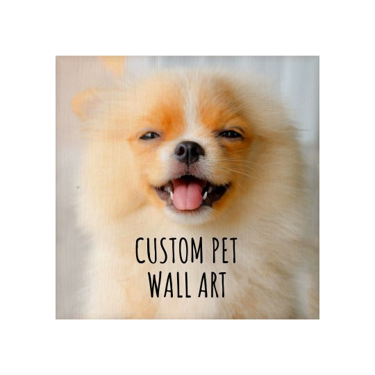 Pet Photo Wood Board Wall Art