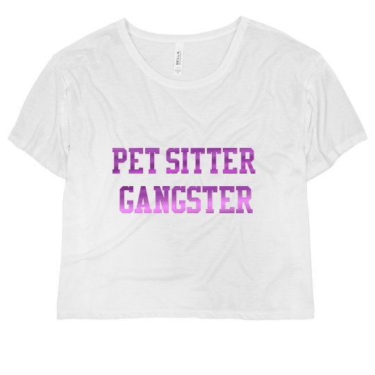 Pet Sitter Gangster™️ Flowy Crop