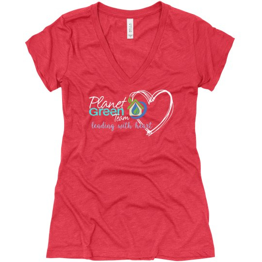 PGT Leading with Heart V-neck T