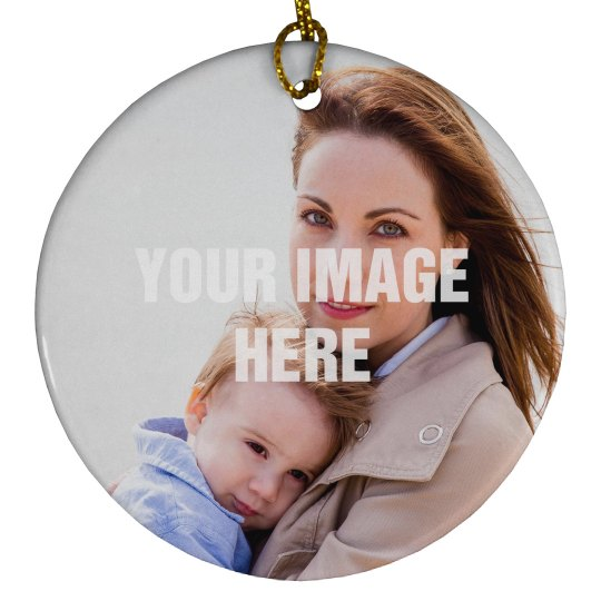 Photo Upload Christmas Ornament