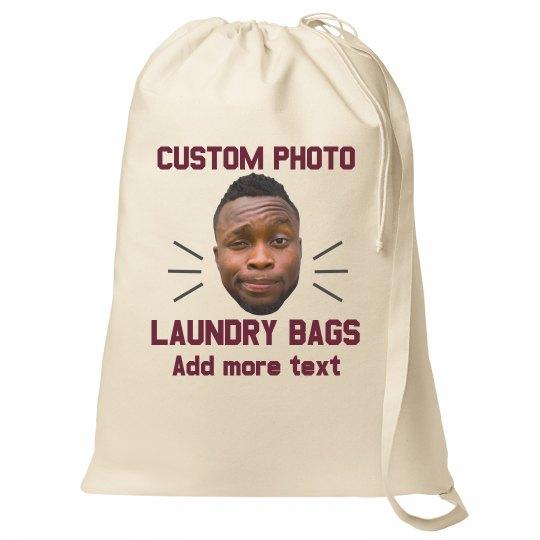 Photo Upload Laundry Bag