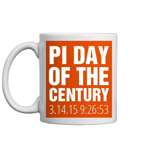 Pi Day Orange Mug