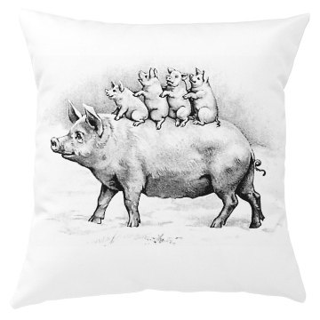 Pig's Pillow Cover