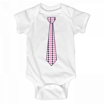 Pink & Purple Long Tie