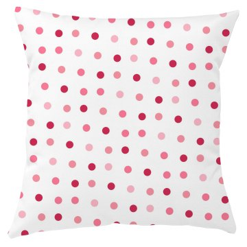 Pink & Red Poke-a-dots Pillow Cover