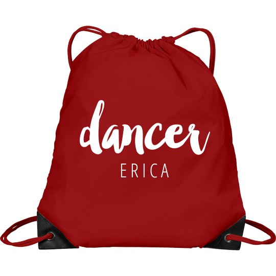 Pink DANCER drawstring sport backpack