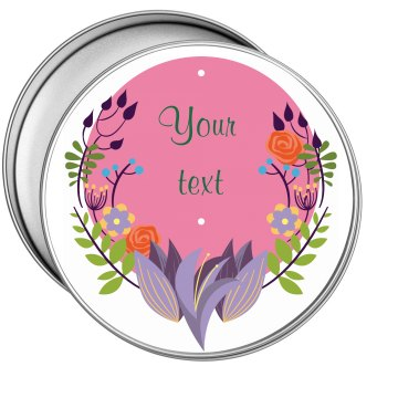 Pink Floral Bridal Tin