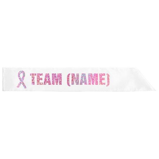 Pink Glitter Breast Cancer Team