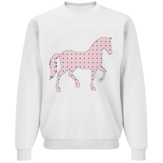 Pink Polka Dot Pony Sweatshirt