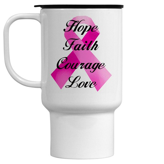 Pink Ribbon Faith Mug