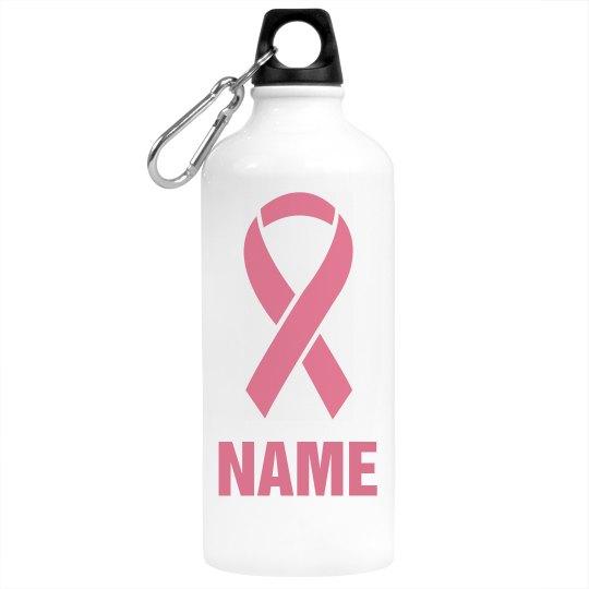 Pink Ribbon Water Bottle