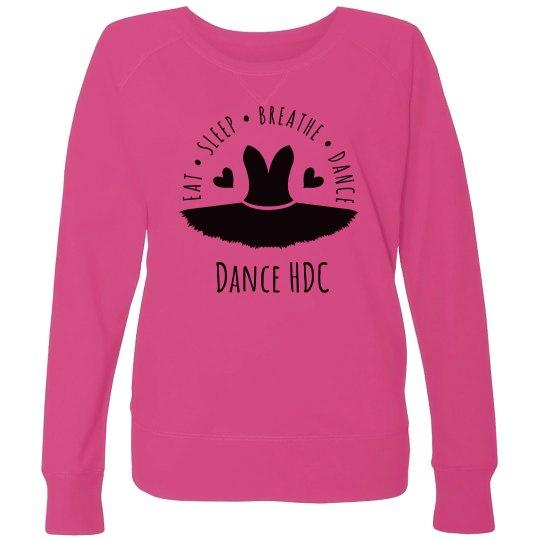 pink sweatshirt