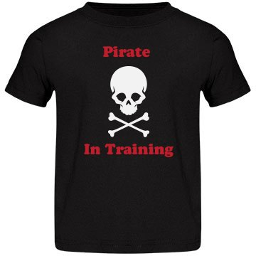 Pirate in Training toddler T-shirt