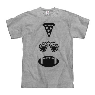 Pizza, Beer, Football Men's T-Shirt