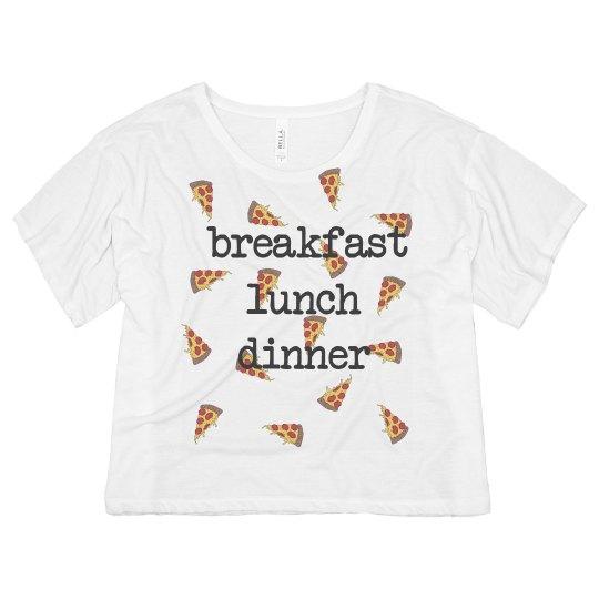 pizza breakfast lunch dinner tee