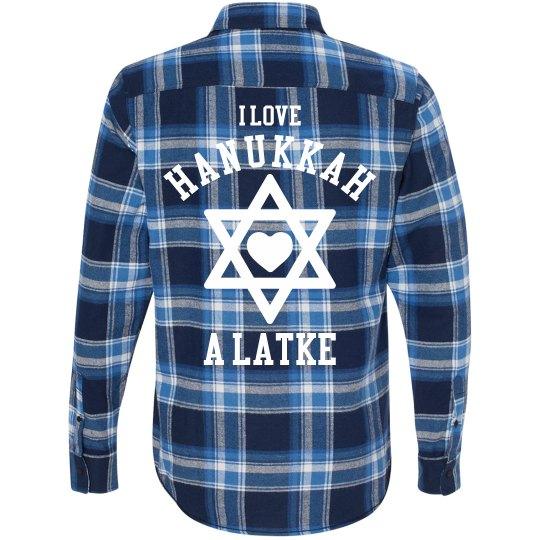 Plaid Hanukkah Latke Love
