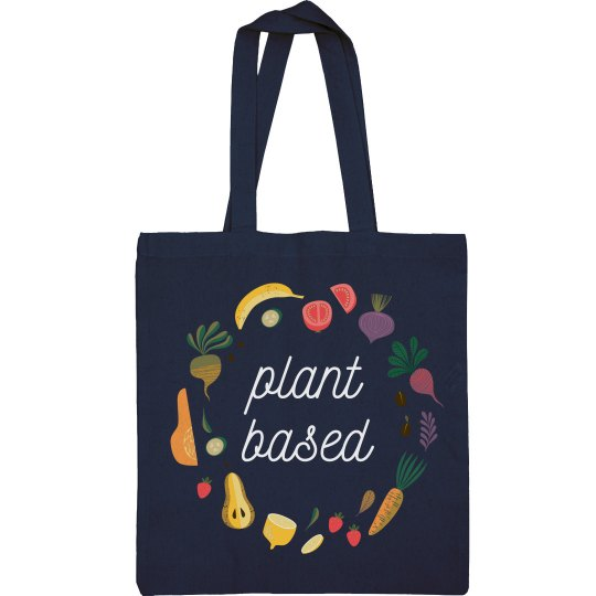 Plant Based Grocery Tote Bag Fruits & Veggies