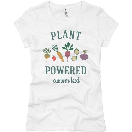 Plant Powered Fruits & Veggie Art Custom Tee