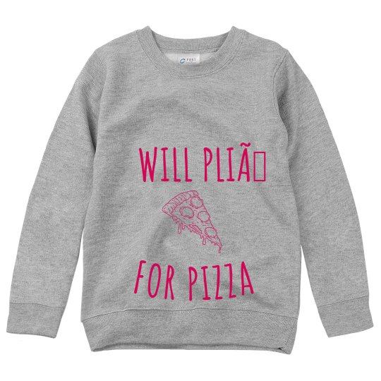 Plie for Pizza Sweatshirt-Youth