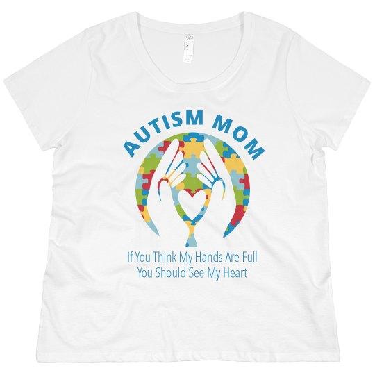 Plus Size Autism Mom Full Hearts