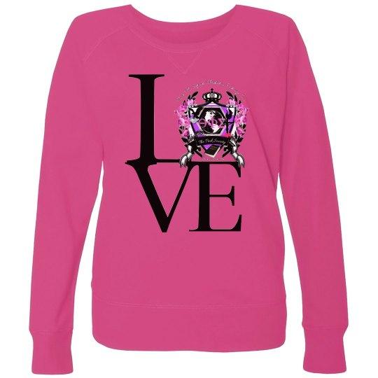 Plus size love shirt