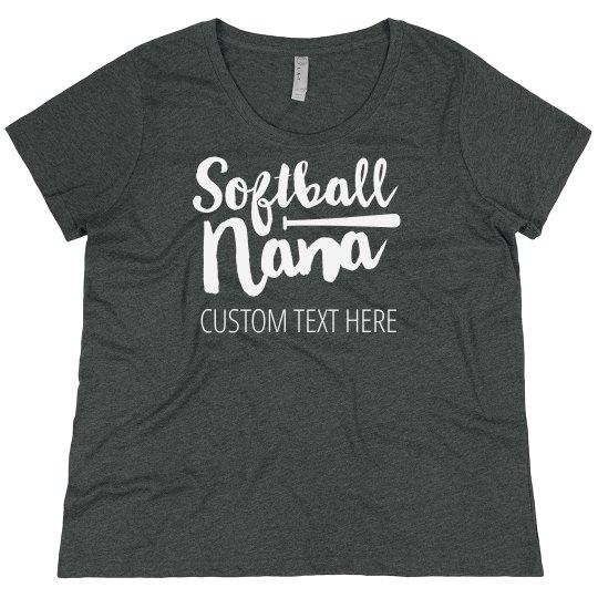 Plus Size Softball Grandma Custom