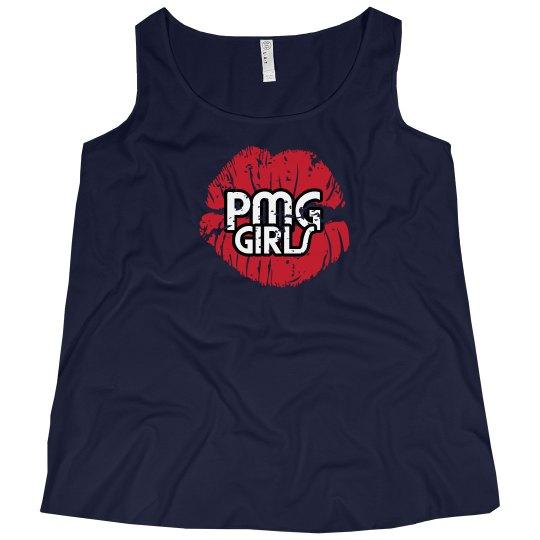 "PMG GIRLS "" CURVY QUEEN BLACK"" TANK"