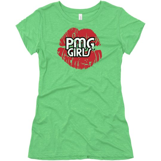 """PMG GIRLS """"DISTRESSED"""" FITTED TEE"""