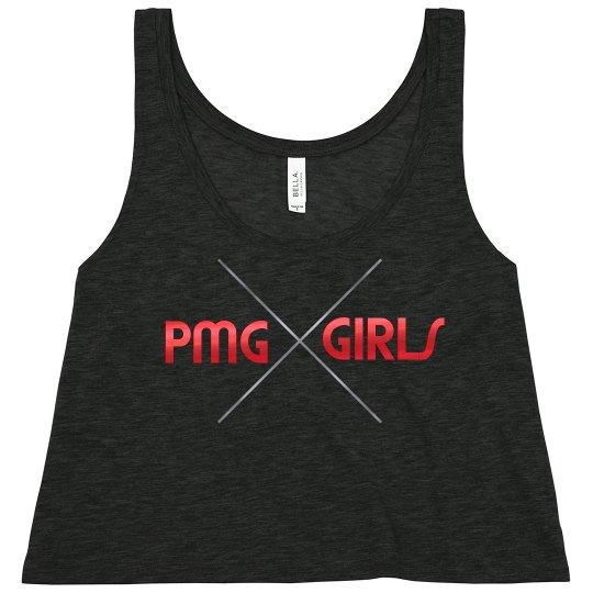 "PMG GIRLS ""INFARED"" CROP TEE"