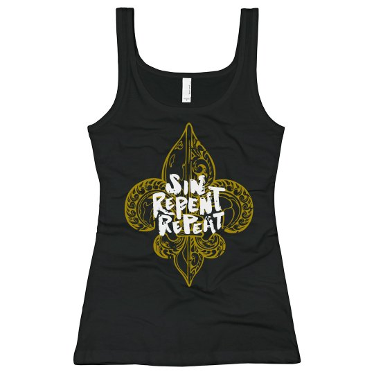 "PMG GIRLS ""MARDI GRAS BLACK"" TANK"