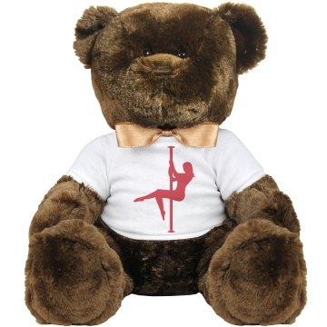 POLE DANCER'S TEDDY BEAR