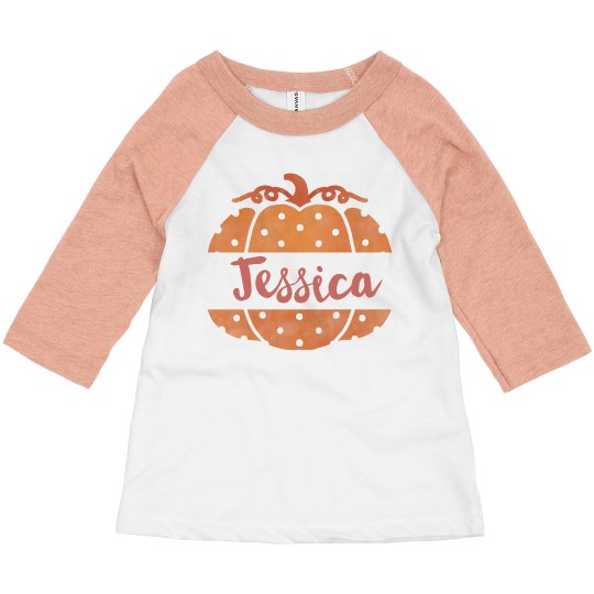 Polka-Dot Pumpkin Custom Toddler