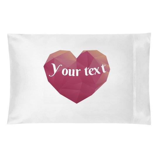 Polygon Heart Pillowcase