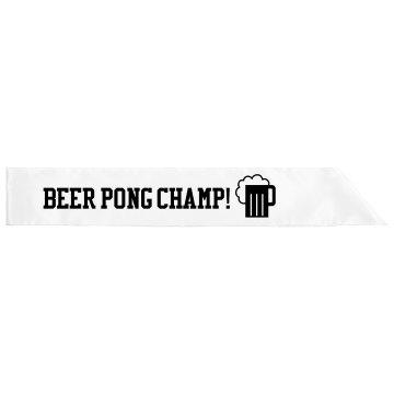 Pong Champ Sash