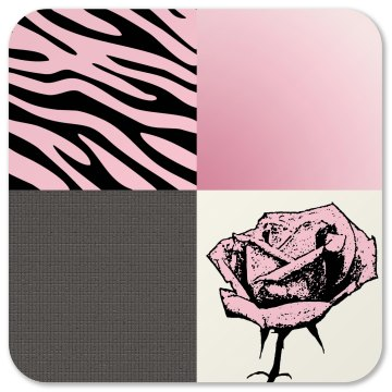 Pop Art Rose Zebra