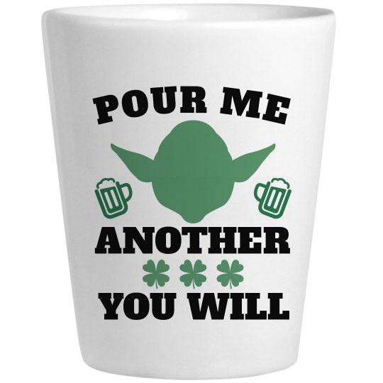 Pour Another Drink Alien Shot Glass