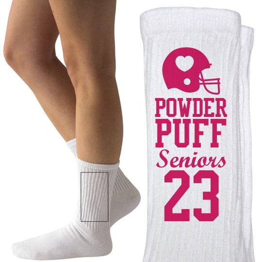 Powderpuff Football Senior Girls Custom Socks
