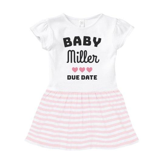 Pregnancy Announcement Custom Baby Dress