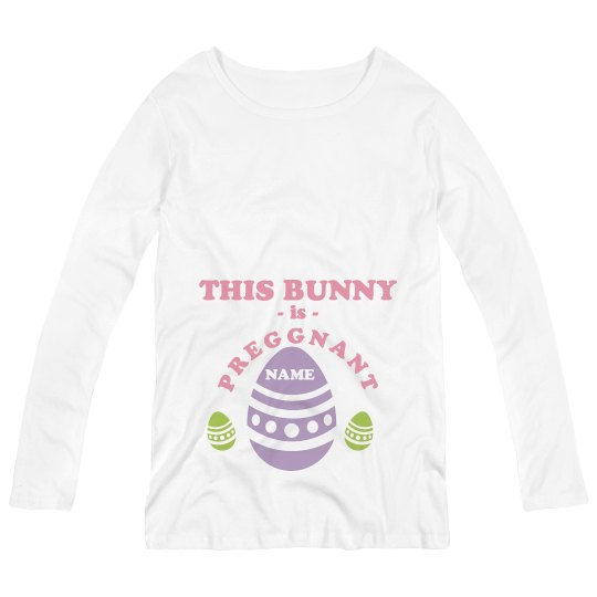 Pregnant Bunny Maternity Longsleeve