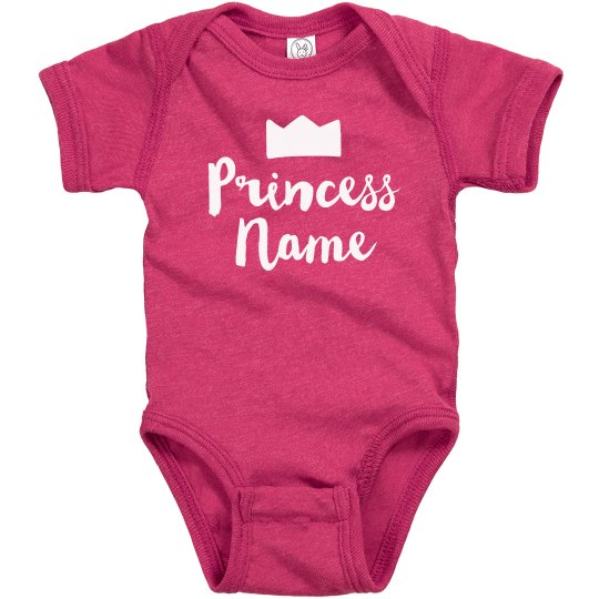 Princess Add Name Custom Baby Gift