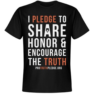 Pro Truth Pledge Shirt Black