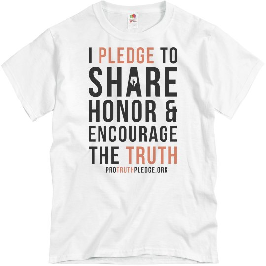 Pro Truth Pledge Shirt Heather Grey