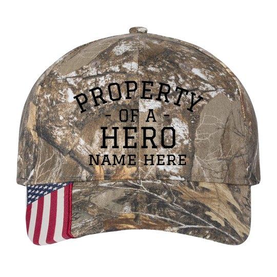 Property of a Hero Custom Camo Hat