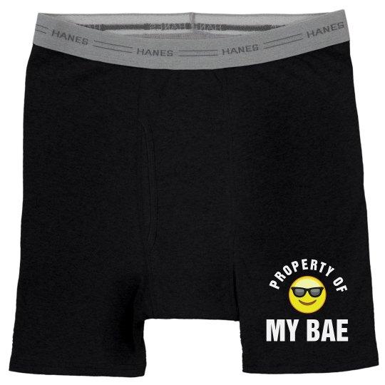 Property Of Bae Emoji Guy Gifts