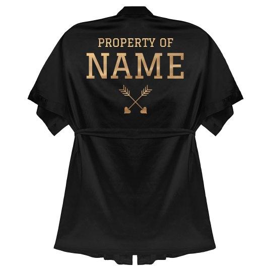 Property Of Custom Name Metallic