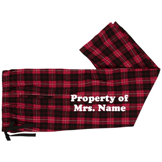 Property Of Just Married Pants