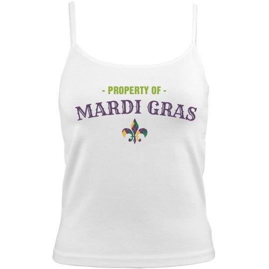 Property Of Mardi Gras Fleur De Lis