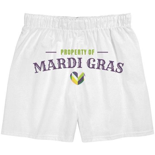 Property Of Mardi Gras Heart
