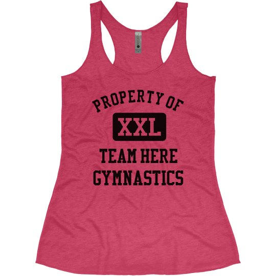 Property of Team Name Custom Gymnastics Tank